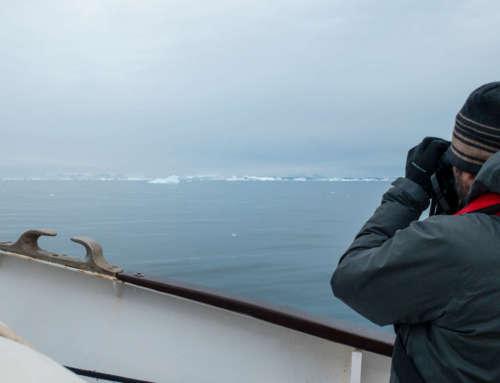 Prises de sons aux côtés des icebergs